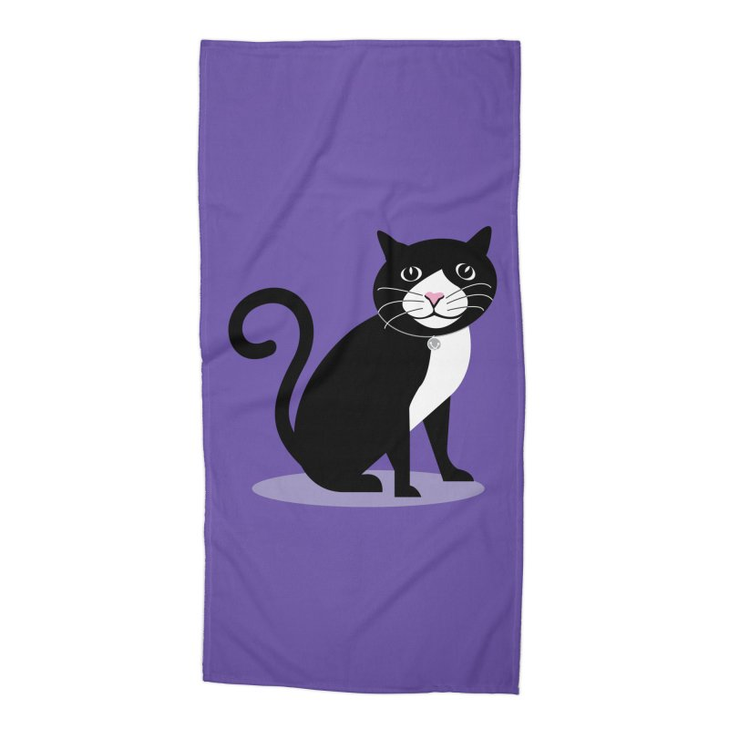 CHLOE the CAT Accessories Beach Towel by CBHstudio's Artist Shop