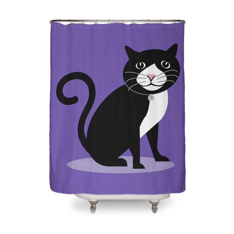 CHLOE the CAT Home Shower Curtain by CBHstudio's Artist Shop