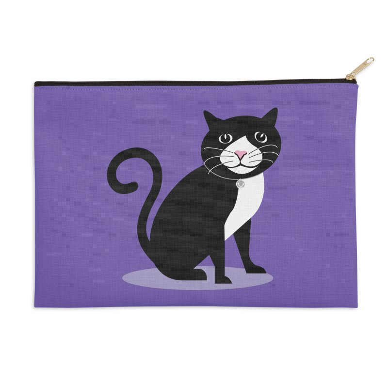 CHLOE the CAT Accessories Zip Pouch by CBHstudio's Artist Shop