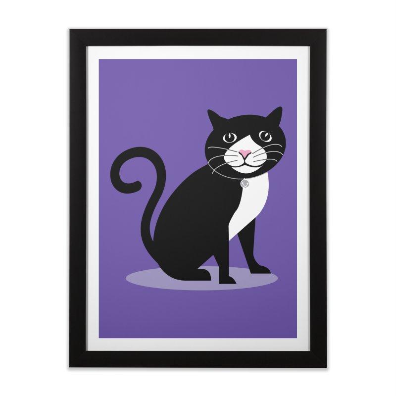 CHLOE the CAT Home Framed Fine Art Print by CBHstudio's Artist Shop