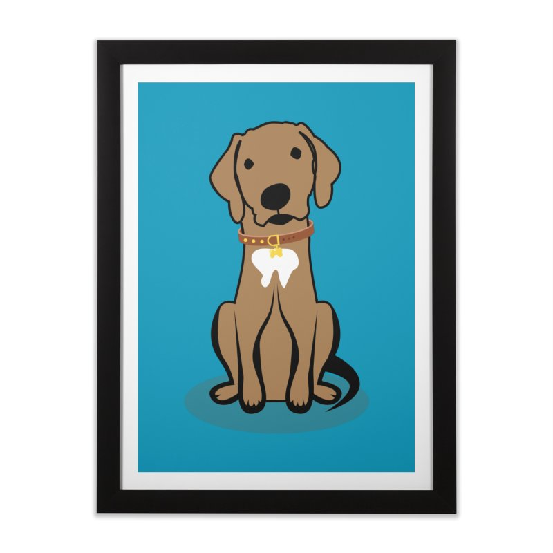 MILO the DOG Home Framed Fine Art Print by CBHstudio's Artist Shop