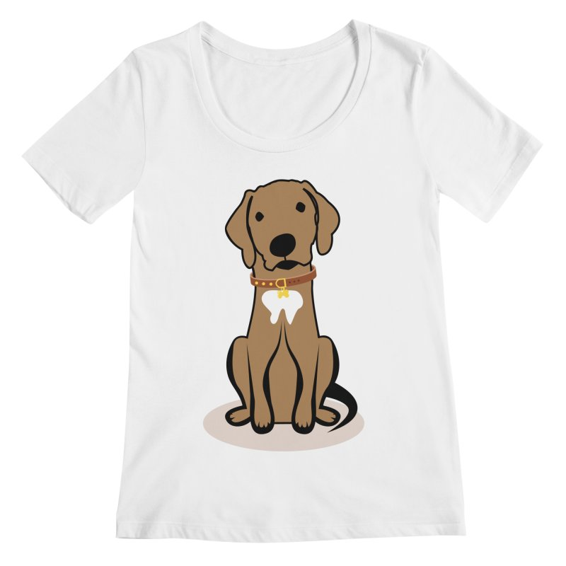 MILO the DOG Women's Regular Scoop Neck by CBHstudio's Artist Shop