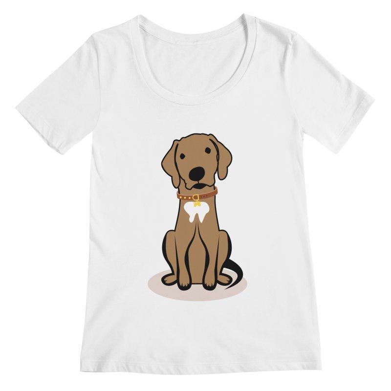 MILO the DOG Women's Scoopneck by CBHstudio's Artist Shop