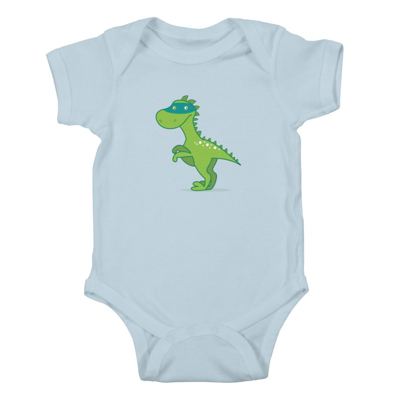 SUPER DINO Kids Baby Bodysuit by CBHstudio's Artist Shop