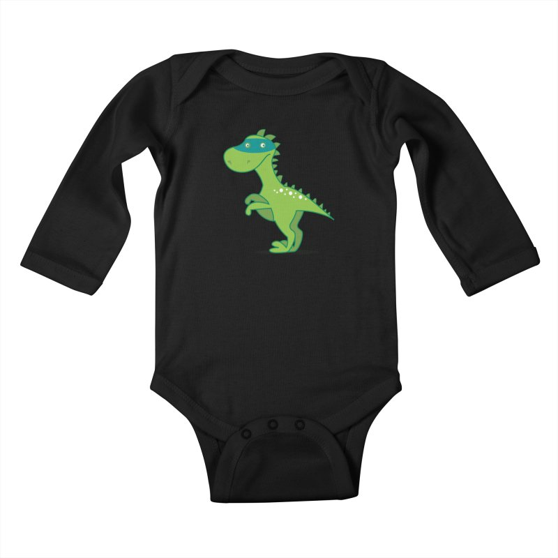 SUPER DINO Kids Baby Longsleeve Bodysuit by CBHstudio's Artist Shop