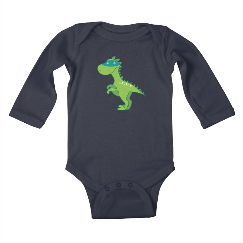 SUPER DINO Kids Baby Longsleeve Bodysuit by CBHstudio's Artist Shop