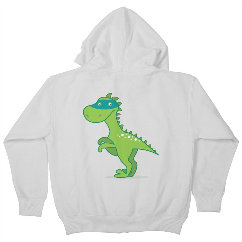 SUPER DINO Kids Zip-Up Hoody by CBHstudio's Artist Shop