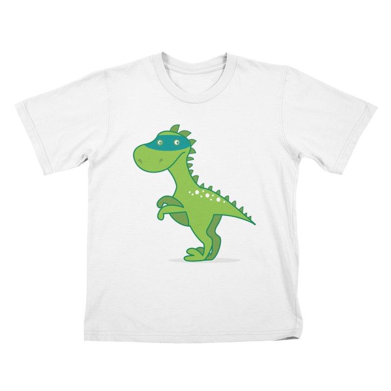 SUPER DINO Kids T-Shirt by CBHstudio's Artist Shop