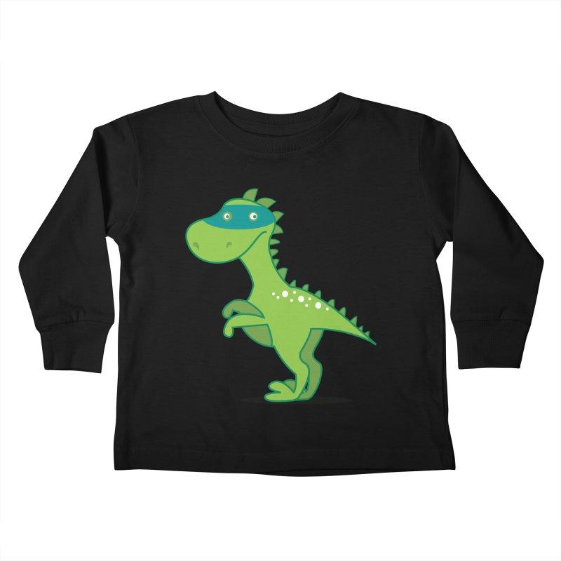 SUPER DINO in Kids Toddler Longsleeve T-Shirt Black by CBHstudio's Artist Shop