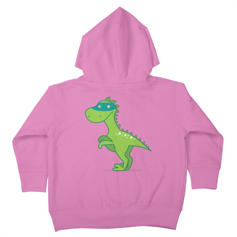 SUPER DINO Kids Toddler Zip-Up Hoody by CBHstudio's Artist Shop