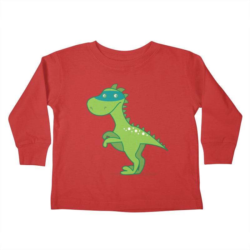 SUPER DINO Kids Toddler Longsleeve T-Shirt by CBHstudio's Artist Shop