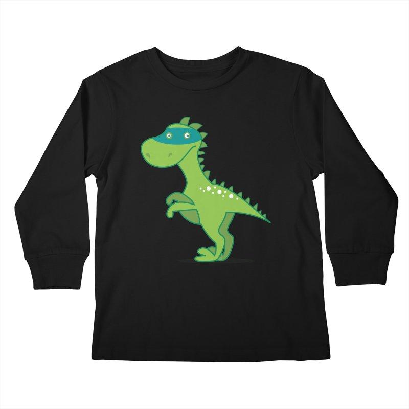 SUPER DINO Kids Longsleeve T-Shirt by CBHstudio's Artist Shop