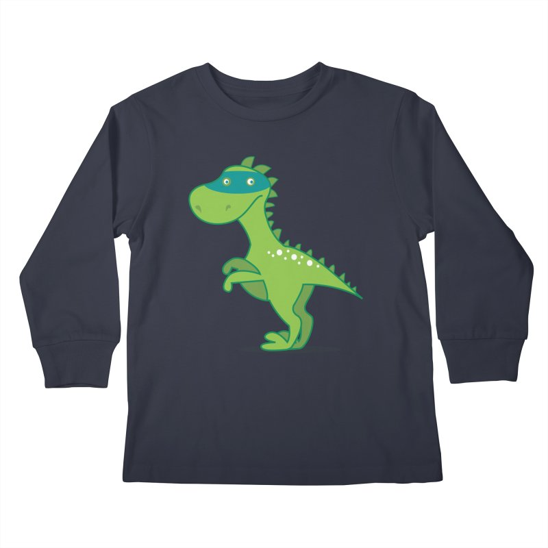 SUPER DINO Kids Longsleeve T-Shirt by CBHstudio's Artist Shop