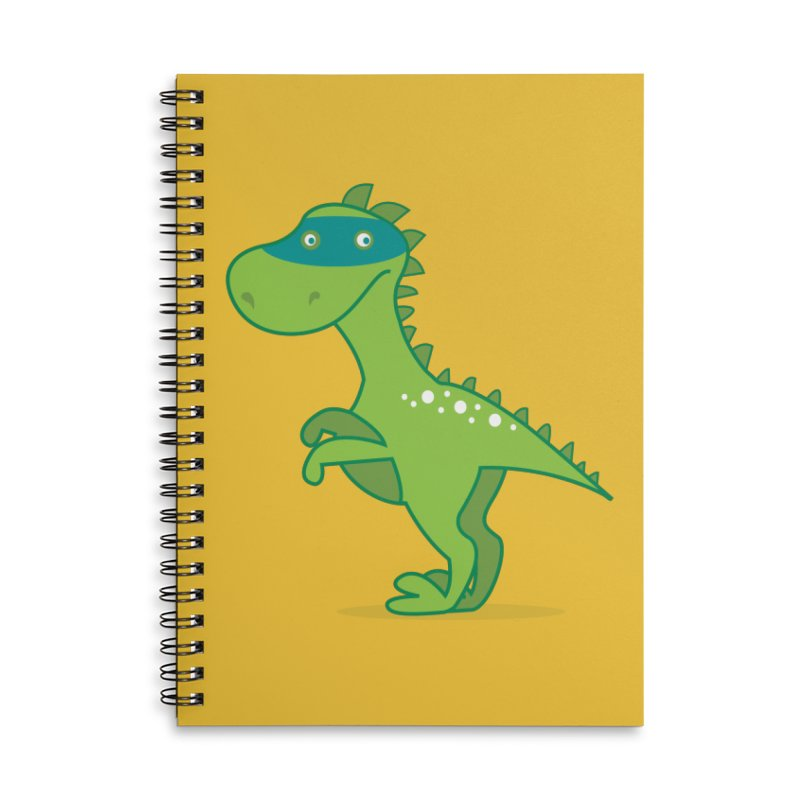 SUPER DINO Accessories Lined Spiral Notebook by CBHstudio's Artist Shop