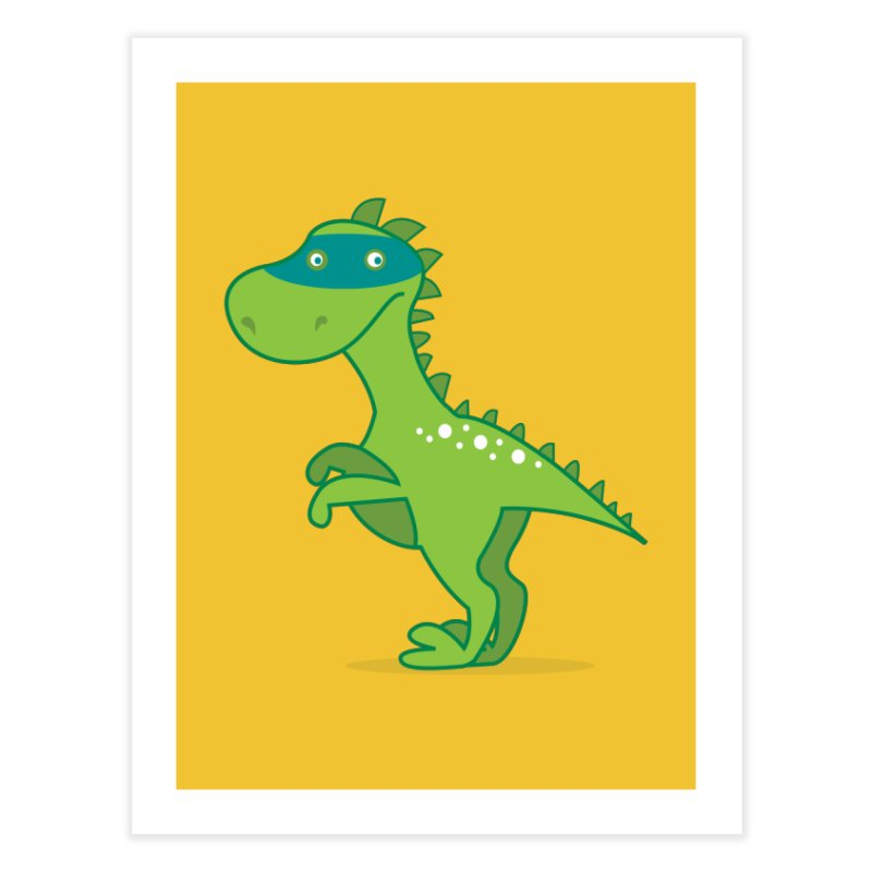 SUPER DINO Home Fine Art Print by CBHstudio's Artist Shop