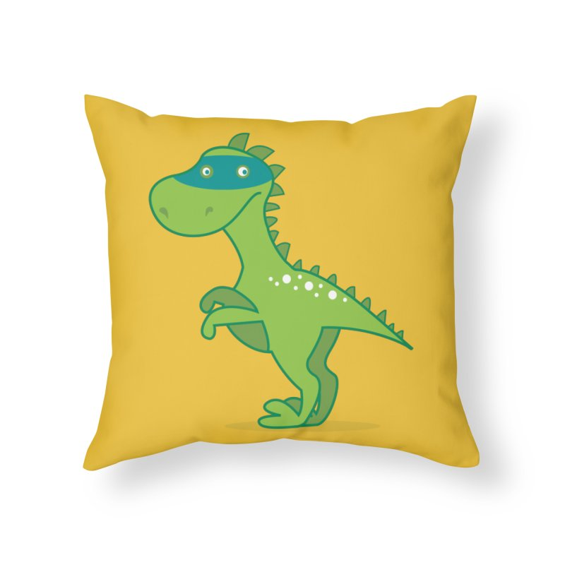 SUPER DINO in Throw Pillow by CBHstudio's Artist Shop