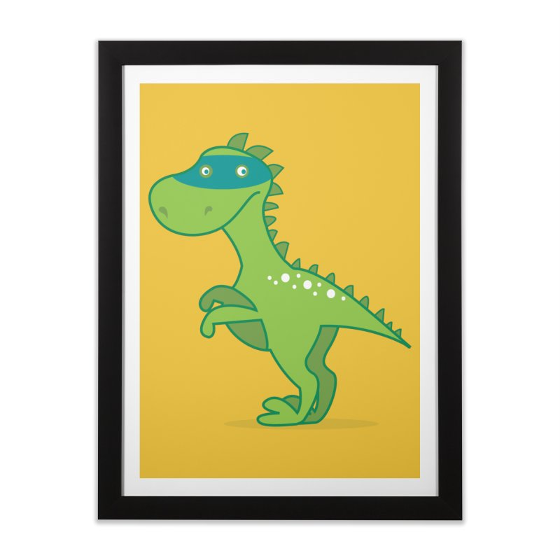 SUPER DINO Home Framed Fine Art Print by CBHstudio's Artist Shop