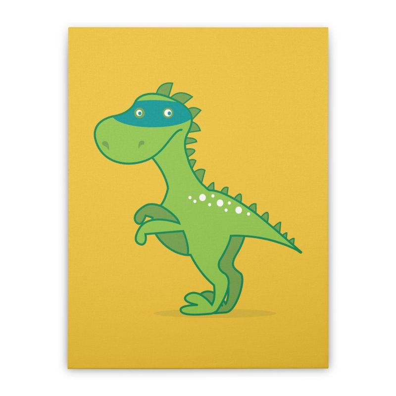 SUPER DINO Home Stretched Canvas by CBHstudio's Artist Shop