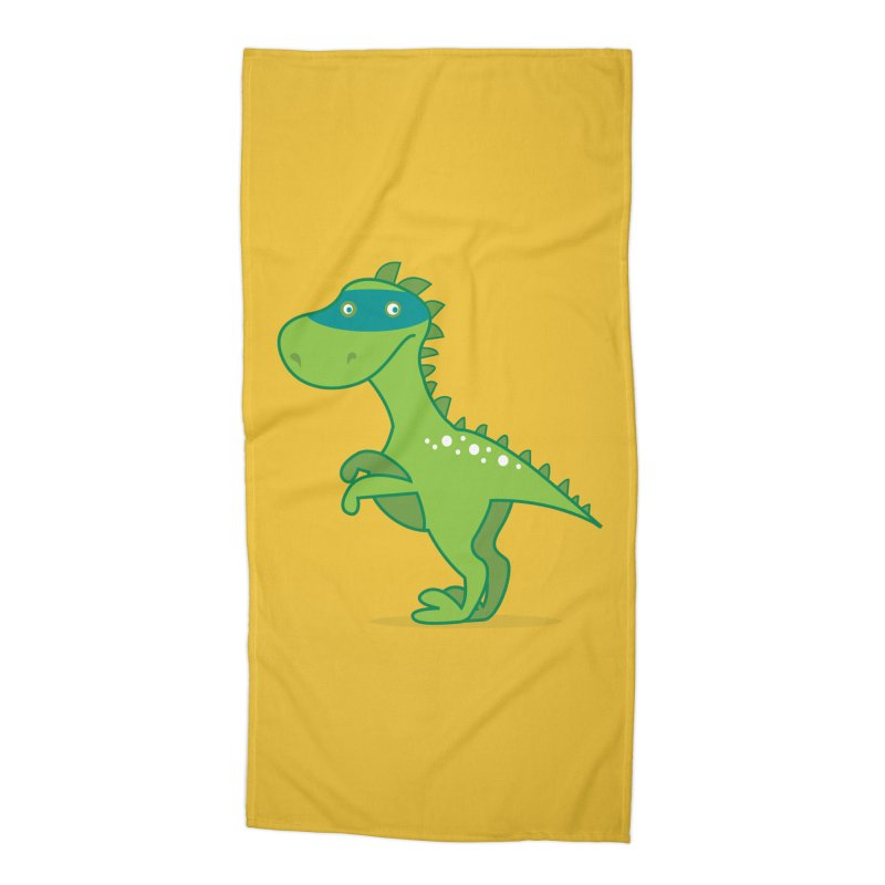 SUPER DINO Accessories Beach Towel by CBHstudio's Artist Shop