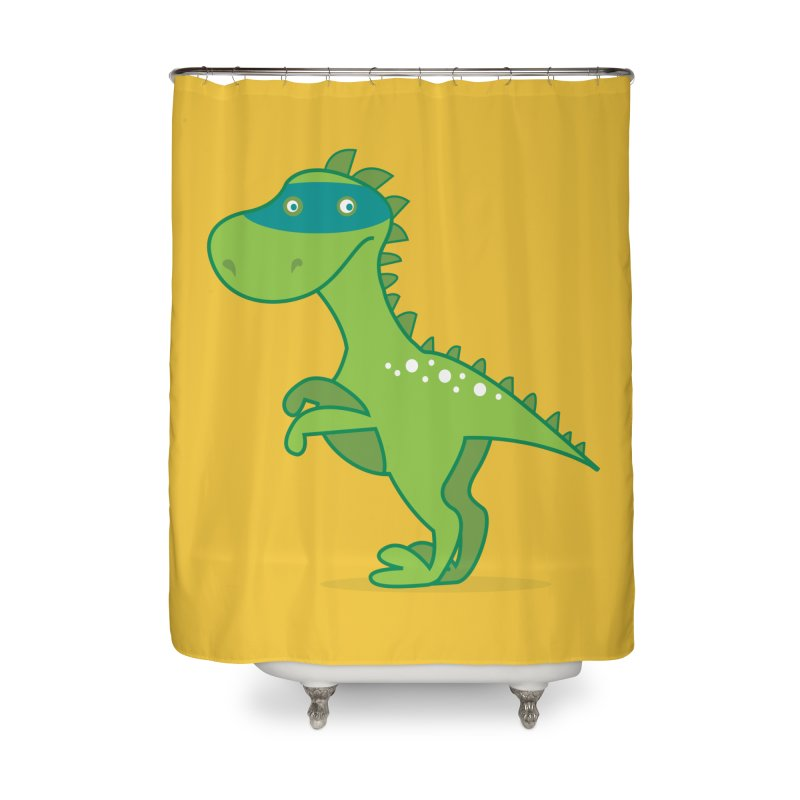 SUPER DINO Home Shower Curtain by CBHstudio's Artist Shop