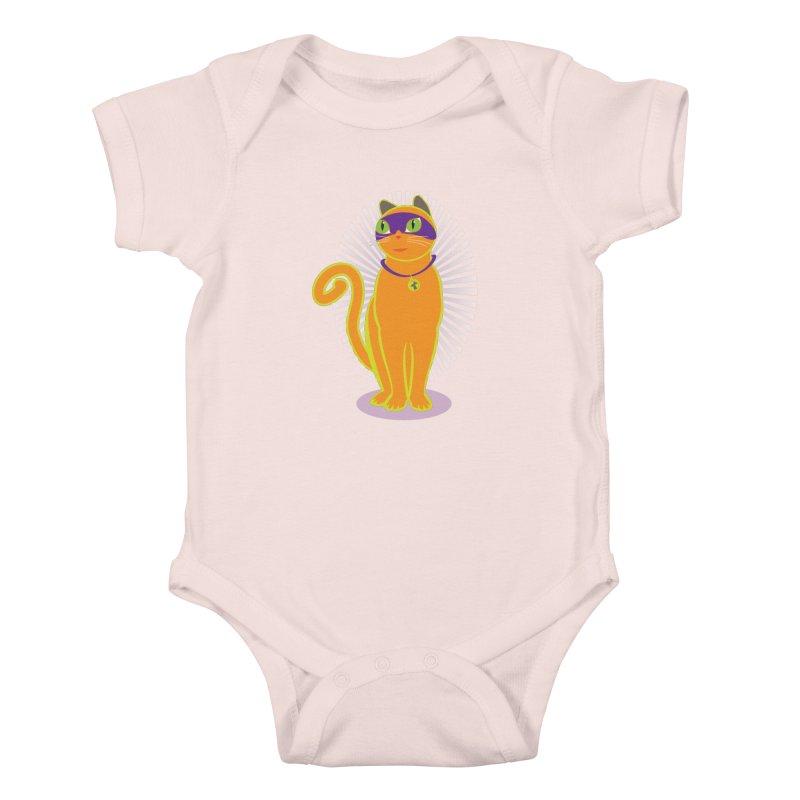 SUPER CAT Kids Baby Bodysuit by CBHstudio's Artist Shop