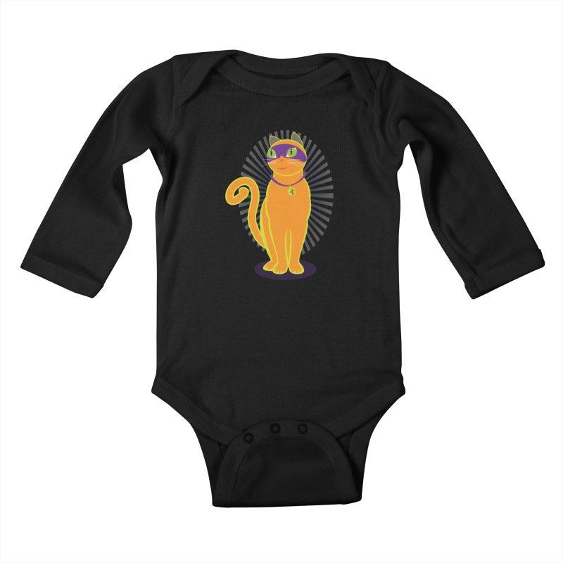 SUPER CAT Kids Baby Longsleeve Bodysuit by CBHstudio's Artist Shop