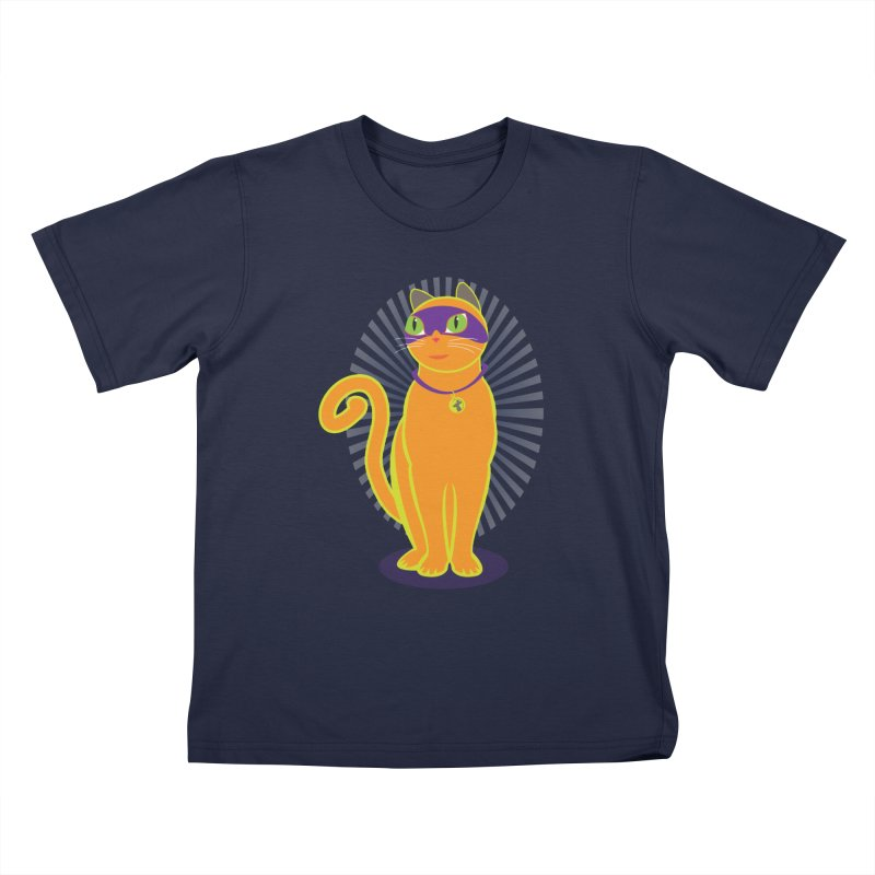 SUPER CAT in Kids T-Shirt Navy by CBHstudio's Artist Shop