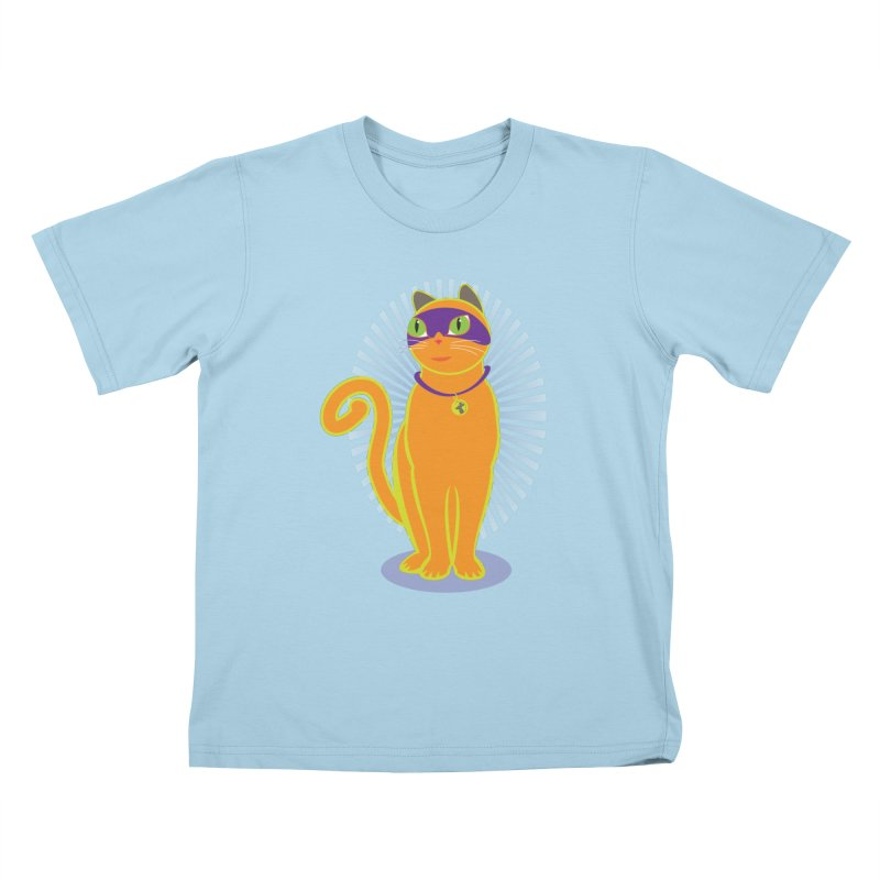 SUPER CAT Kids T-Shirt by CBHstudio's Artist Shop