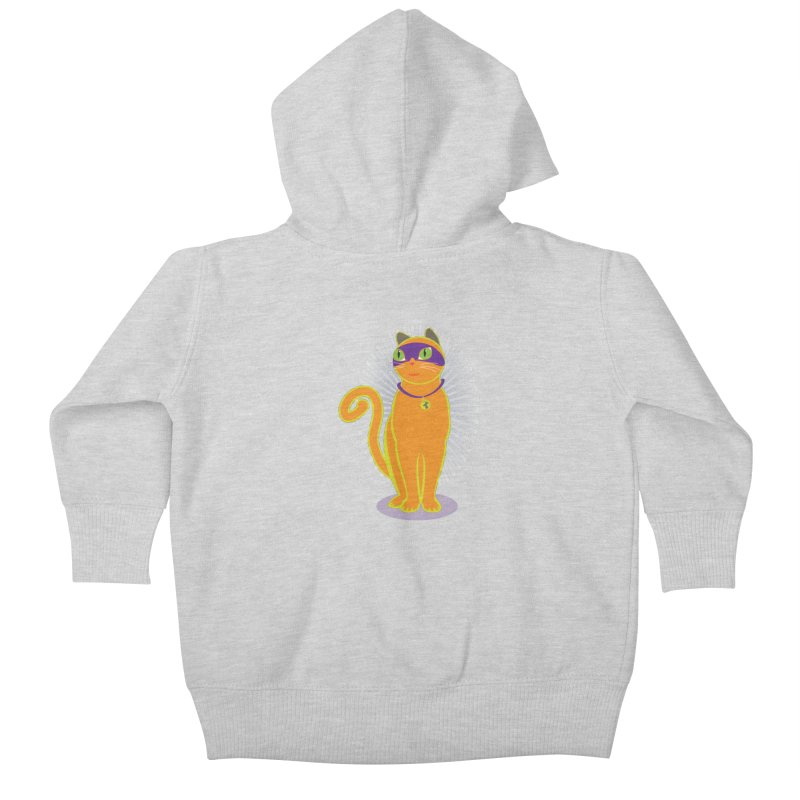 SUPER CAT Kids Baby Zip-Up Hoody by CBHstudio's Artist Shop