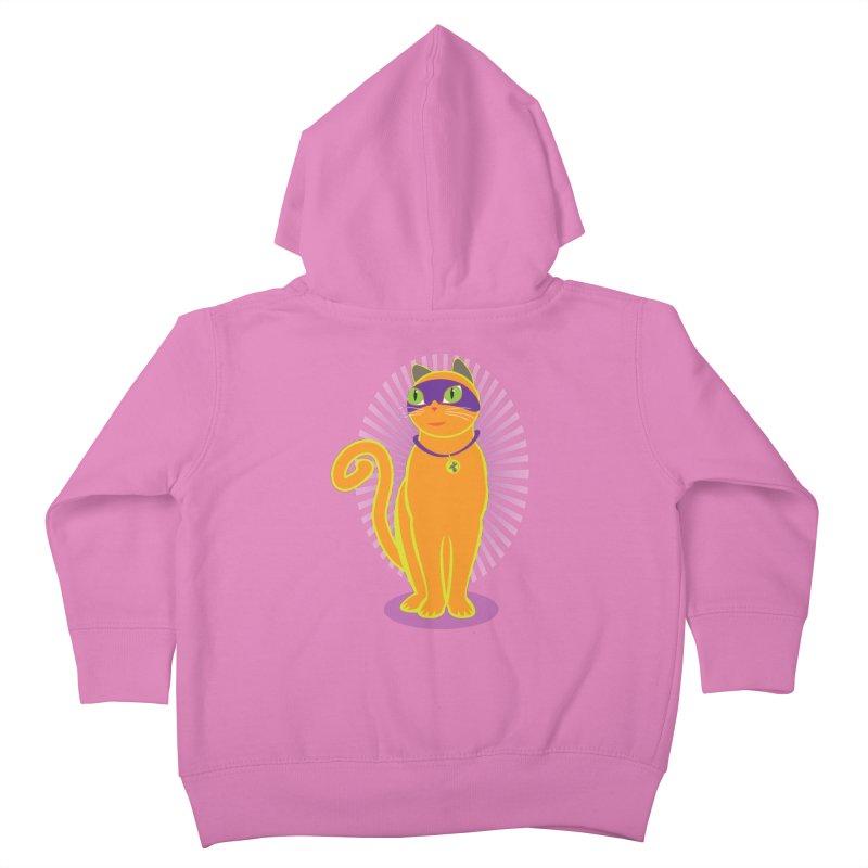 SUPER CAT Kids Toddler Zip-Up Hoody by CBHstudio's Artist Shop