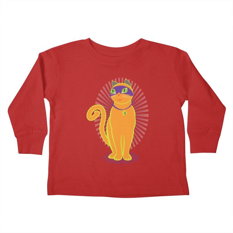 SUPER CAT Kids Toddler Longsleeve T-Shirt by CBHstudio's Artist Shop