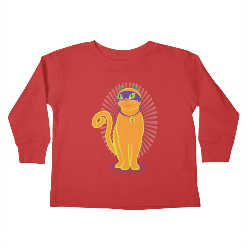 SUPER CAT Kids Toddler Longsleeve T-Shirt by CBHstudio's Artist Shop
