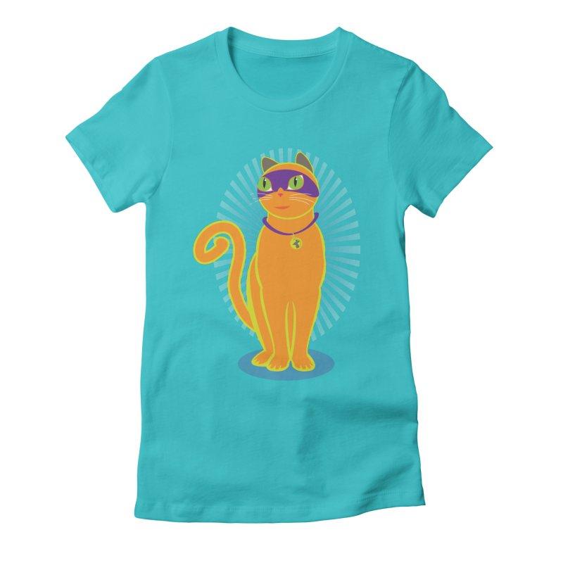 SUPER CAT Women's Fitted T-Shirt by CBHstudio's Artist Shop