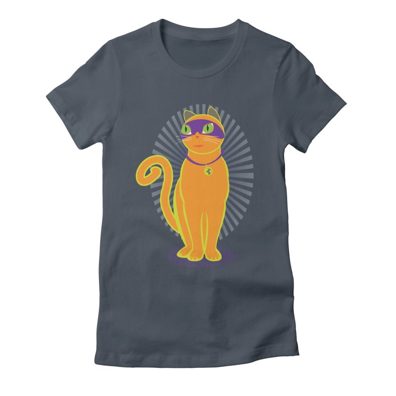 SUPER CAT Women's Fitted T-Shirt by CBHstudio's Artist Shop