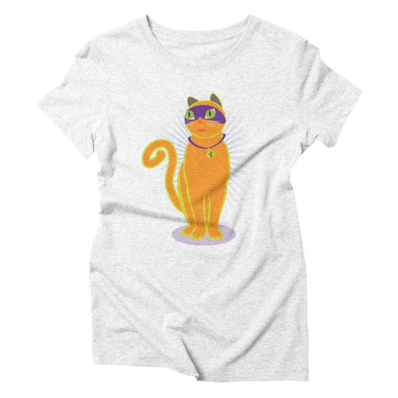 SUPER CAT Women's Triblend T-shirt by CBHstudio's Artist Shop
