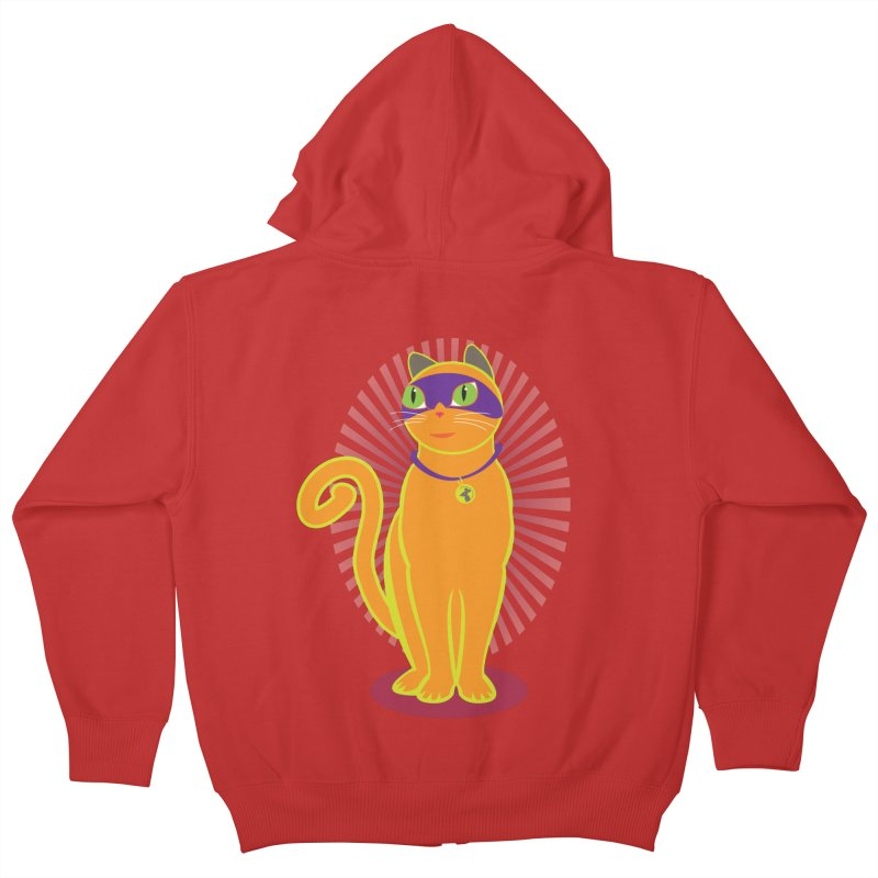 SUPER CAT Kids Zip-Up Hoody by CBHstudio's Artist Shop