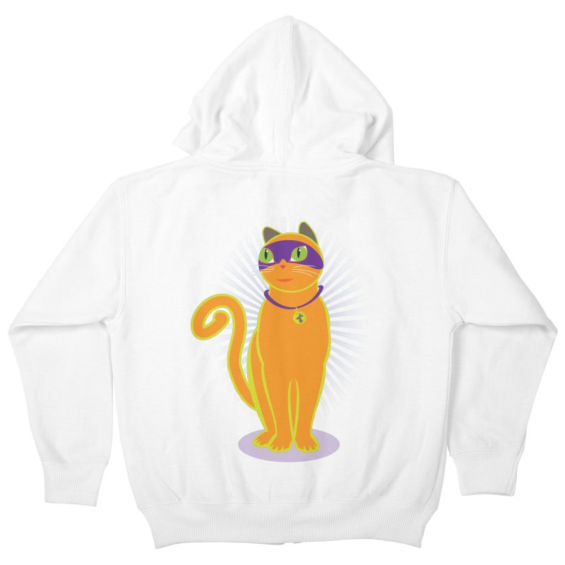 SUPER CAT Kids Zip-Up Hoody by CBHstudio's Artist Shop