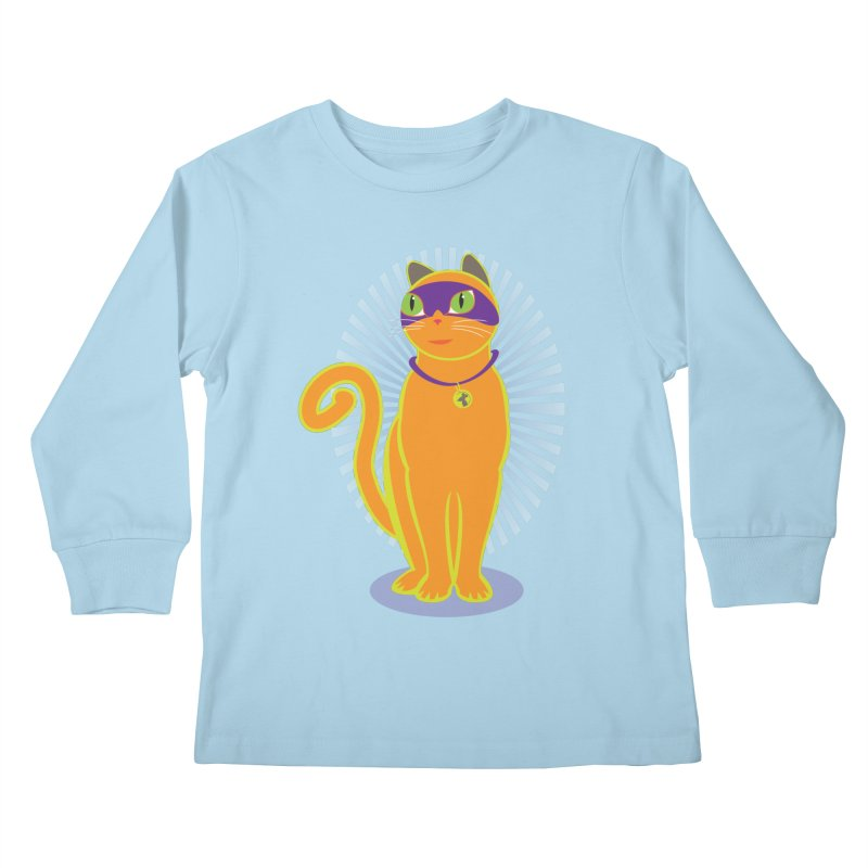 SUPER CAT Kids Longsleeve T-Shirt by CBHstudio's Artist Shop