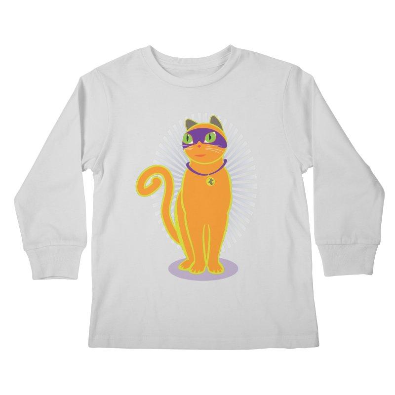 SUPER CAT Kids Longsleeve T-Shirt by CBHstudio's Artist Shop