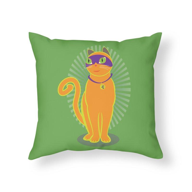 SUPER CAT Home Throw Pillow by CBHstudio's Artist Shop