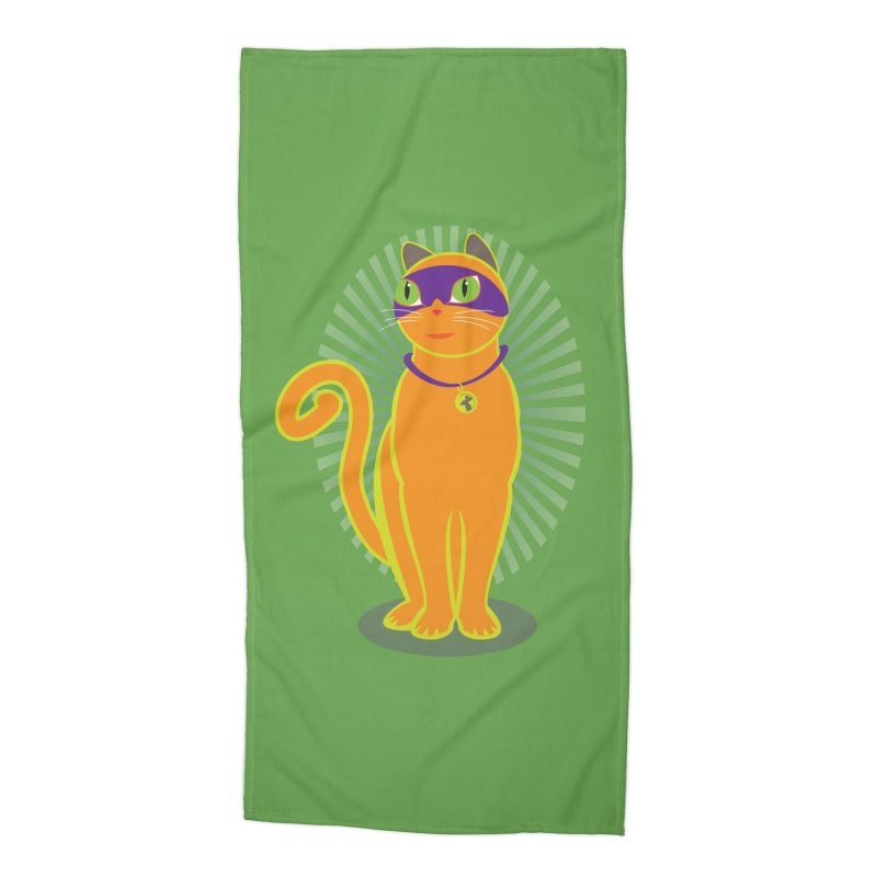 SUPER CAT Accessories Beach Towel by CBHstudio's Artist Shop