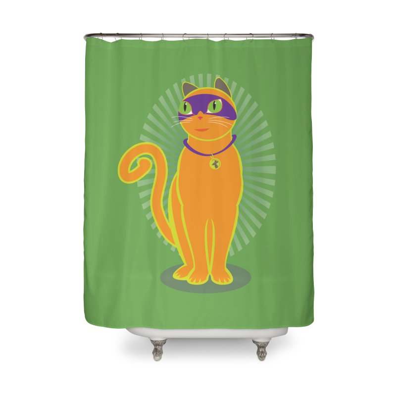 SUPER CAT Home Shower Curtain by CBHstudio's Artist Shop