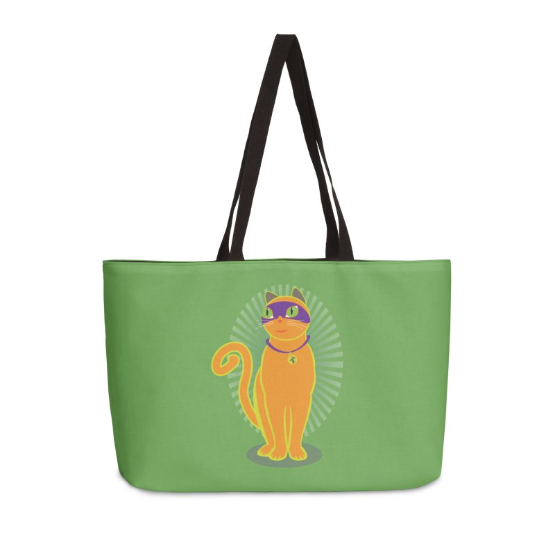 SUPER CAT Accessories Weekender Bag Bag by CBHstudio's Artist Shop