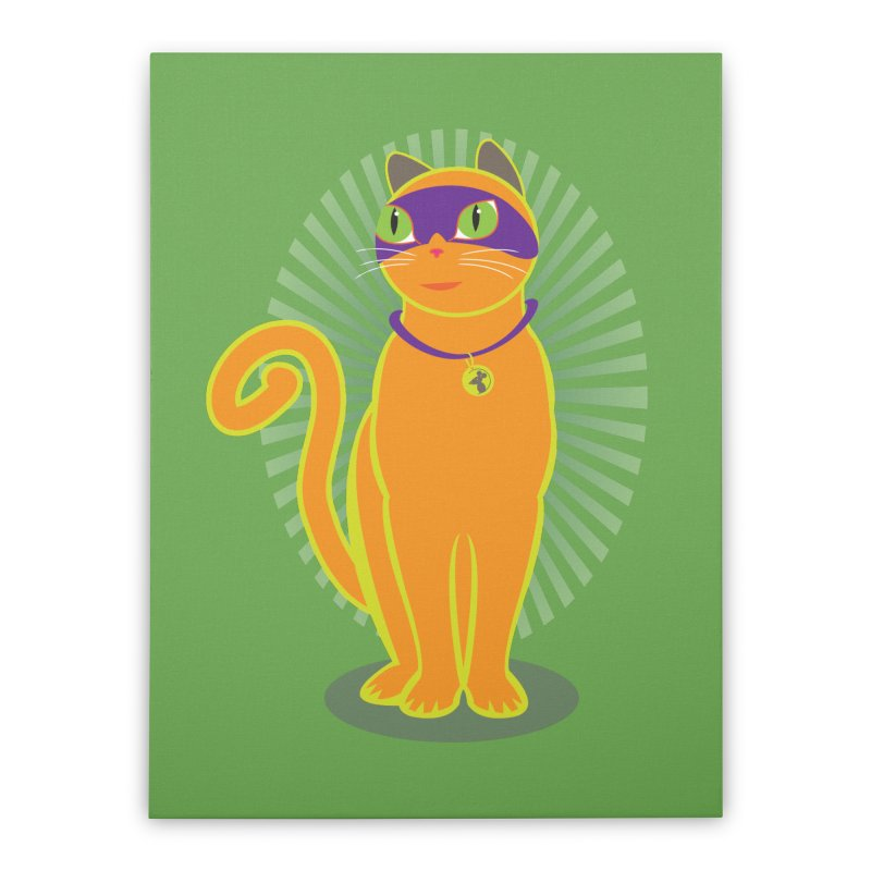 SUPER CAT Home Stretched Canvas by CBHstudio's Artist Shop