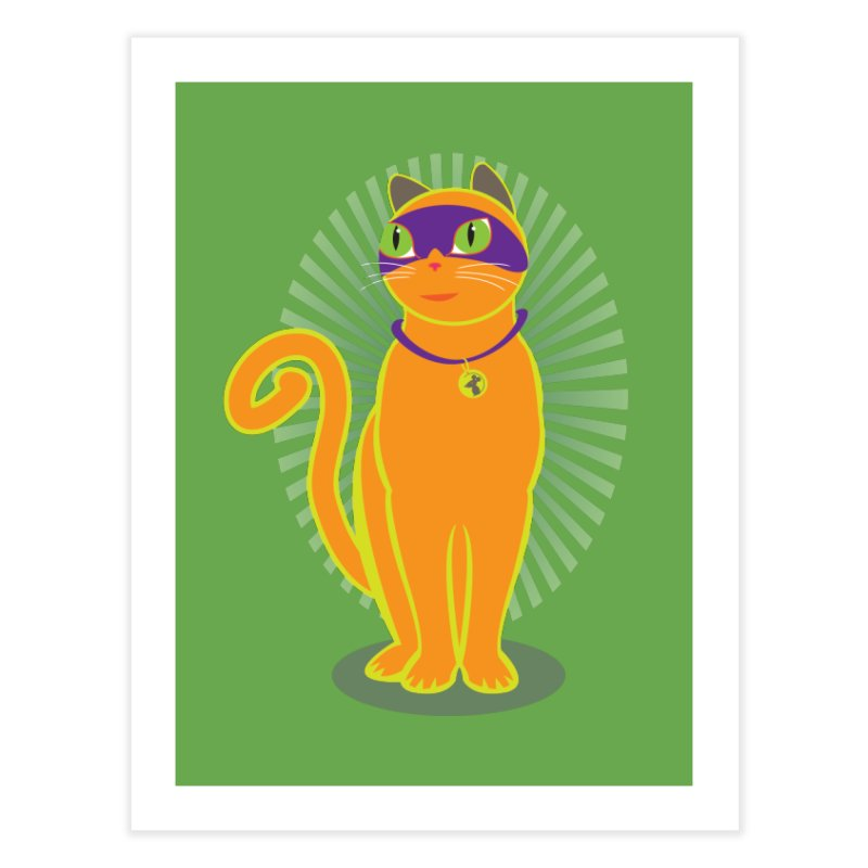SUPER CAT Home Fine Art Print by CBHstudio's Artist Shop