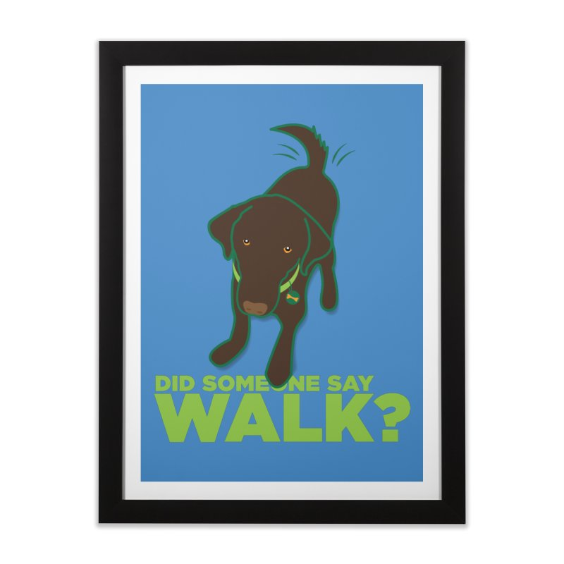 MOXIE the DOG Home Framed Fine Art Print by CBHstudio's Artist Shop