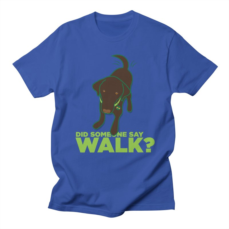 MOXIE the DOG in Men's Regular T-Shirt Royal Blue by CBHstudio's Artist Shop