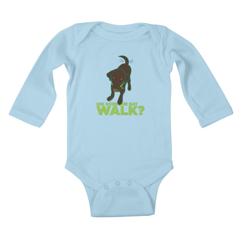 MOXIE the DOG Kids Baby Longsleeve Bodysuit by CBHstudio's Artist Shop