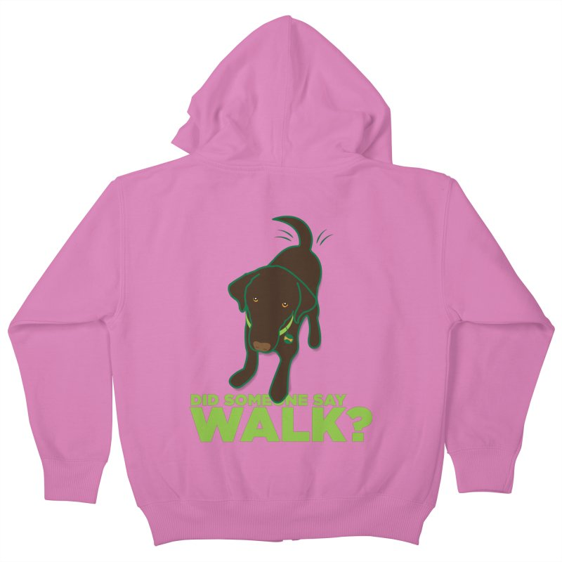 MOXIE the DOG Kids Zip-Up Hoody by CBHstudio's Artist Shop