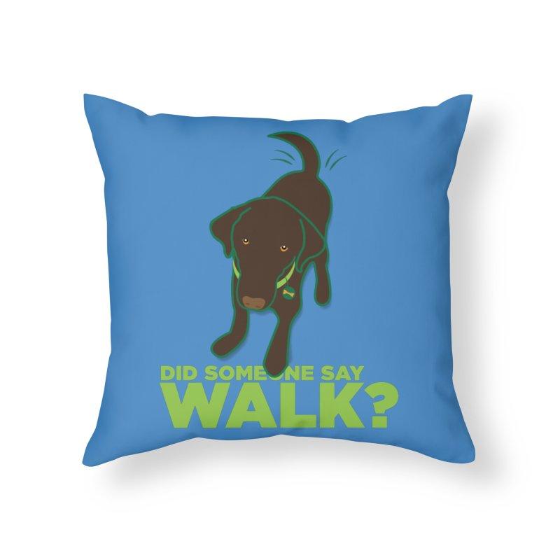 MOXIE the DOG Home Throw Pillow by CBHstudio's Artist Shop